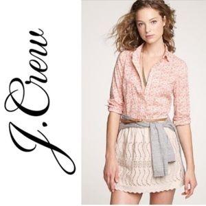 J Crew • Perfect Shirt Button Down Size 10